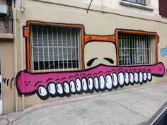 Paul Insect & Sweet Toof New Murals In Mexico City, Mexico. I like the use of the windows for the look of sun glasses and the weirdness of the subject matter. I like his cartoon caricature look to his designs with a sense of humorous giving the positioning using windows for glasses.
