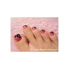 Toe Nail Designs found on Polyvore