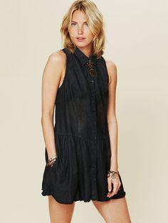 Free People Williamsburg Dropwaist Shirt Dress, $118.00