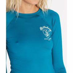Get free shipping at the Billabong online store. Anchor your seaside style with this raglan sleeve rashguard.