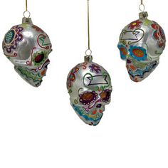"Multicolored and whimsical, these little ornaments are perfect for your Day of the Dead, Halloween, or Samhain festivities! Approximately 4.5"". Assorted colors. Priced individually."