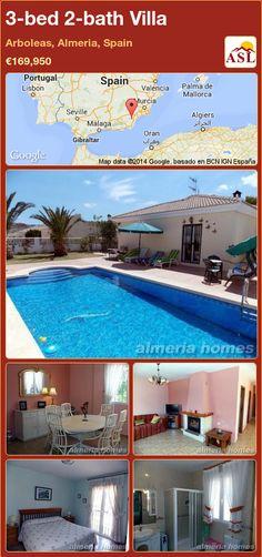 3-bed 2-bath Villa in Arboleas, Almeria, Spain ►€169,950 #PropertyForSaleInSpain