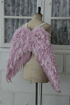 Pink Angel Wings--That's my kind of angel, making a fashion statement with colored wings!