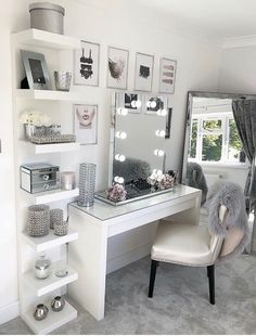 10 vanity mirrors with light ideas you need to spruce up your vanity table GirlsRoom AmourRoom BestBedroomGirls VanityMirrorWithLights Ikea Esty VanityDecor MakeupRoom Girls VanityMirrorIdeas DIYVanityMirrorIdeas # Dressing Table Decor, Dressing Room Design, Ikea Dressing Room, Ikea Dressing Table, Dressing Table Mirror, Girls Dressing Room, Dressing Table Organisation, Dressing Table With Lights, Dressing Table In Wardrobe