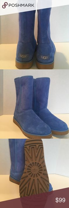 UGG Classic Short Boot, 7.5, blue, NEW, authentic A new pair of Ugg, treadkite, blue, 7 1/2, classic Short UGG Shoes Winter & Rain Boots