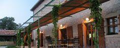 The terrace at Villa Terra in Istria, Croatia.