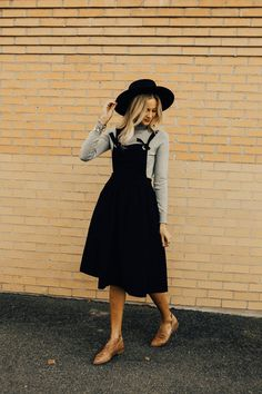 Here's Looking At You Overall Dress | ROOLEE
