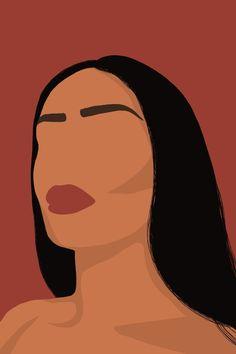Custom Portrait Illustration Wallpaper | illustrations by HJC