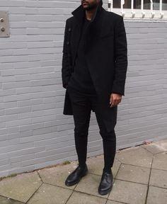 eyesoncrack:  jeynoir:  Sunday in Cos/Acne/Docs  Black Streetwear Blog!  // Featuring Brands & Designers!