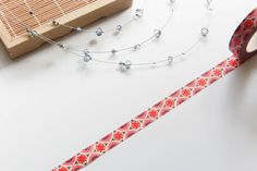 Red BOHO chic Pattern washi tape / 8mm from WashiStation