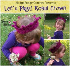 Do you have a prince or princess in your life that needs a crown?? Now you can crochet one and save the kingdom!! Grab a hook, some yarn, your FREE copy of the Let's Play! Royal Crown pattern, and ...