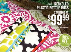 Cost Plus World Market Has Recycled Content Plastic Bottle Rugs In Bright  Colors And Patterns.