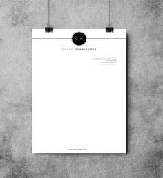 Hemmingway letterhead design by EmandCoDesign on Etsy