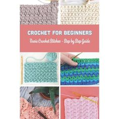You don't need to spend a lot of money to start crocheting. We've made a list of only the essential work you need to get started without breaking the bank! Different Crochet Stitches, Crochet Stitches For Blankets, Crochet Stitches For Beginners, Crochet Stitches Patterns, Crochet Basics, Unique Crochet Stitches, Knitted Blankets, Slip Stitch Crochet, Bobble Stitch