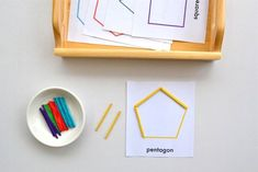 Some great Montessori shape learning activity ideas