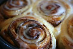 Best Cinnabon Cinnamon Rolls recipe I've found ~~ substitute butter; add a second rising of 20 minutes