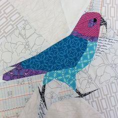 Paper pieced Kea (NZ Alpine Parrot) Pattern