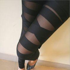 Hot Black Patchhwork Leggings