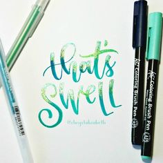 """3,555 Likes, 46 Comments - Modern Lettering & Design (@chrystalizabeth) on Instagram: """"That's swell! ✨ Day 6 of #FunFirstMay with @tjt.design @tiffyinspirations & Me . . Materials…"""""""