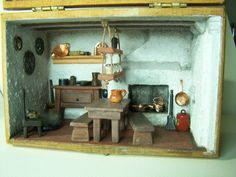 Miniature Room in a Box Series  Rustic Kitchen by JanelLovesCrafts, $399.00