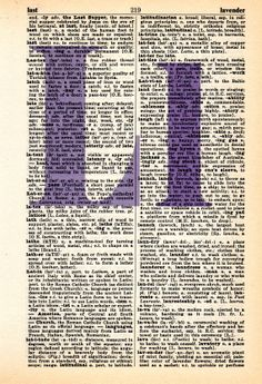 Repurposed Dictionary Art...L by SimpleeSaid on Etsy, $4.50