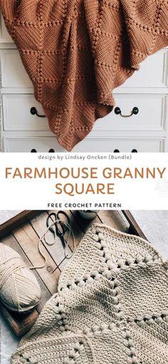 Crochet Diy, Crochet Simple, Manta Crochet, Crochet Afghans, Learn To Crochet, Crochet Crafts, Crochet Stitches, Crochet Hooks, Crochet Blankets