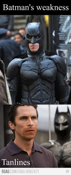 Batman Humor --- Funny Tan Lines Funniest Photos Ever, Funny Photos, Dc Memes, Funny Memes, Jokes, Funniest Memes, I Love To Laugh, Make You Smile, Funny Cute