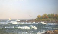 Rockport Coast by Richard Loud, Oil, 12 x 20 Paintings I Love, Local Artists, Coast, Oil, Gallery, Water, Artwork, Outdoor, Gripe Water