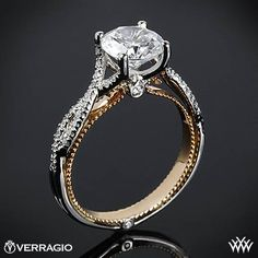 Verragio Twisted Two-Tone Diamond Engagement Ring from the Verragio Coture Collection.