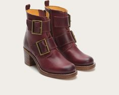 FRYE | Sabrina Double Buckle - Bordeaux - bought them, love them, dying!!
