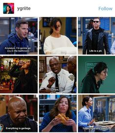 brooklyn nine nine moodboard to describe my life at the moment