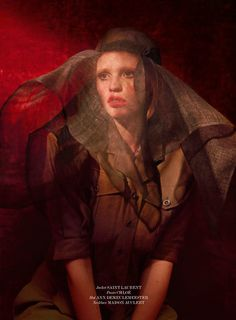 Lara Stone by Sean  Seng for 032c Magazine
