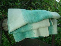Vintage Wool Blanket Antique Woolen Blanket Mint by OLaLaVintage, $40.00