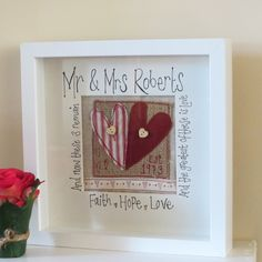 Gorgeous Bespoke Wedding Box Frame from Rosie Lou Crafts - perfect wedding or anniversary gift | Poppy Sparkles #wedding #anniversary #gift ...