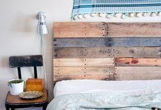 handmade reclaimed wood headboard/footboard, $300