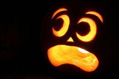 Halloween Magic: Frightened Jack-O-Lantern! Halloween Magic, Halloween Jack, Holidays Halloween, Halloween Pumpkins, Halloween Decorations, Halloween Ideas, Halloween 2017, Amazing Pumpkin Carving, Pumpkin Carving Patterns