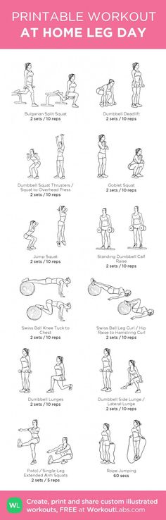 12 At Home Leg Day Workout for Women More