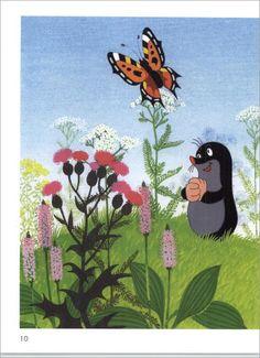 Hoe Molletje aan zijn broek kwam, Miler & Eduard Petiska. La Petite Taupe, Woodland Fairy, Mole, Vintage Children, My Childhood, Bedtime, Childrens Books, Book Art, Fairy Tales