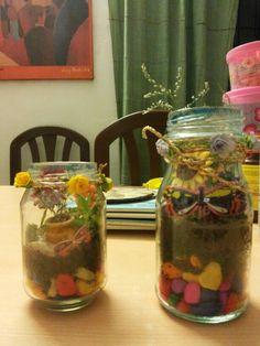 Fairy garden in a mason jar!
