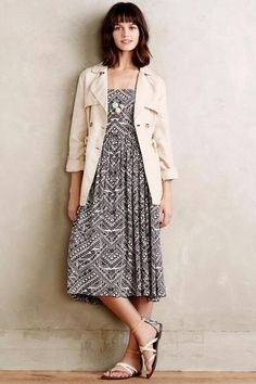 NEW ANTHROPOLOGIE $148 Sketchbook Midi Dress Womens SMALL Grey NWT #AnthropologieCoreyLynnCalter #Sundress #Casual
