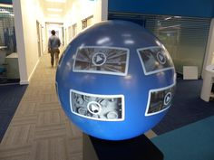 Interactive PufferSphere M760 forms part of the exciting new IBM campus in Dublin. #IBM #Interactive #sphericaldisplay