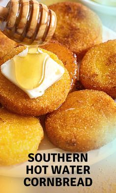 This Southern Hot Water Cornbread is dense, moist, & delicious. Fried to a golden brown, it is allergy-friendly, flavorful, & beyond tasty! Quick Meals, No Cook Meals, Great Recipes, Favorite Recipes, Recipe Ideas, Gourmet Recipes, Cooking Recipes, Good Food, Yummy Food