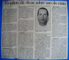 SÓ PARA LEMBRAR - Jornal A TRIBUNA - #cintodesegurança - #trânsito - #palestradireçãodefensiva - #pilotagem - www.ajax-pucci.blogspot.com