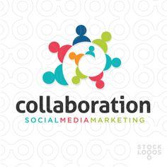 Exclusive Customizable Logo For Sale: collaboration social media marketing | StockLogos.com