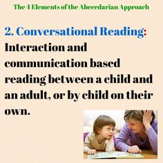 The second element to the Abecedarian Approach is based on the way children and their parents interact when reading together (Sparling, 2010). It is act of reading and exploring books together through back and forth conversation and questioning. As so, the young children taking part become more active in the reading, instead of just being read to.Generally, children between the age of 0-3 are read to everyday in one-to-one with the adult, and ages 4-6 read everyday in groups Visible Learning, Early Reading, Early Intervention, Jungle Theme, Nurse Life, Reggio, Sight Words, Young Children, Love Life