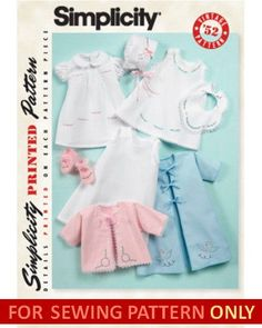 SEWING-PATTERN-MAKE-BABY-GIRL-LAYETTE-VINTAGE-STYLES-PREEMIE-24-POUNDS