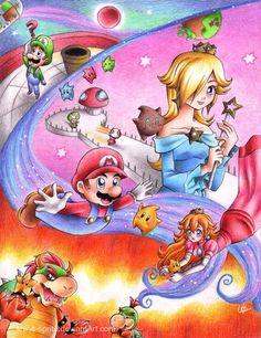 Super Mario Galaxy by shine-sprite on deviantART