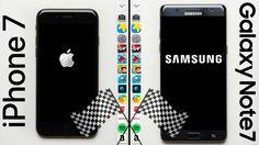 iPhone 7 vs. Galaxy Note 7 Speed Test https://www.youtube.com/watch?v=k_PK_6F_Bhk