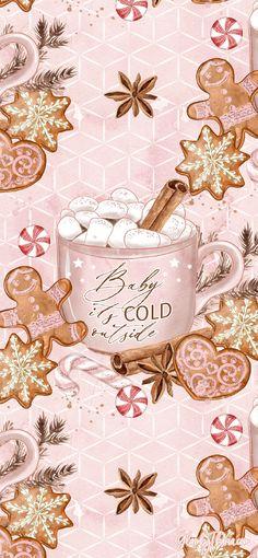 Pink The Season Christmas Phone Wallpapers