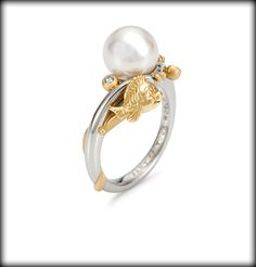 little mermaid pearl engagement ring
